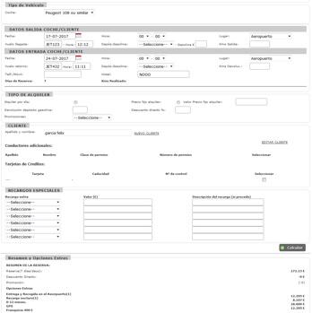formulario reservas programa rent a car