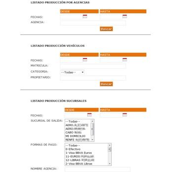 listados producción programa rent a car