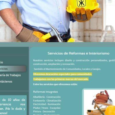 diseño pagina web para pymes ejemplo 1