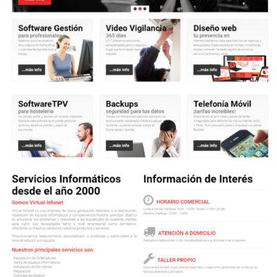 diseño pagina web empresa ejemplo 1