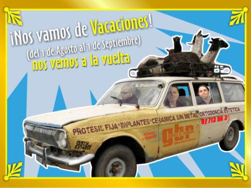 DIVERTIDO TARJETÓN DE VACACIONES