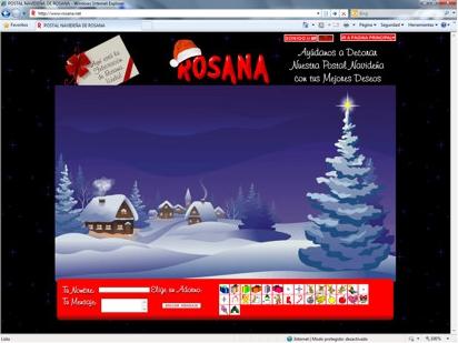 Aplicación navideña para la cantante Rosana