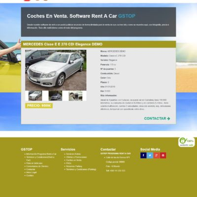 venta coches programa rent a car
